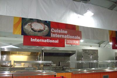 Cuisine at the Olympic village